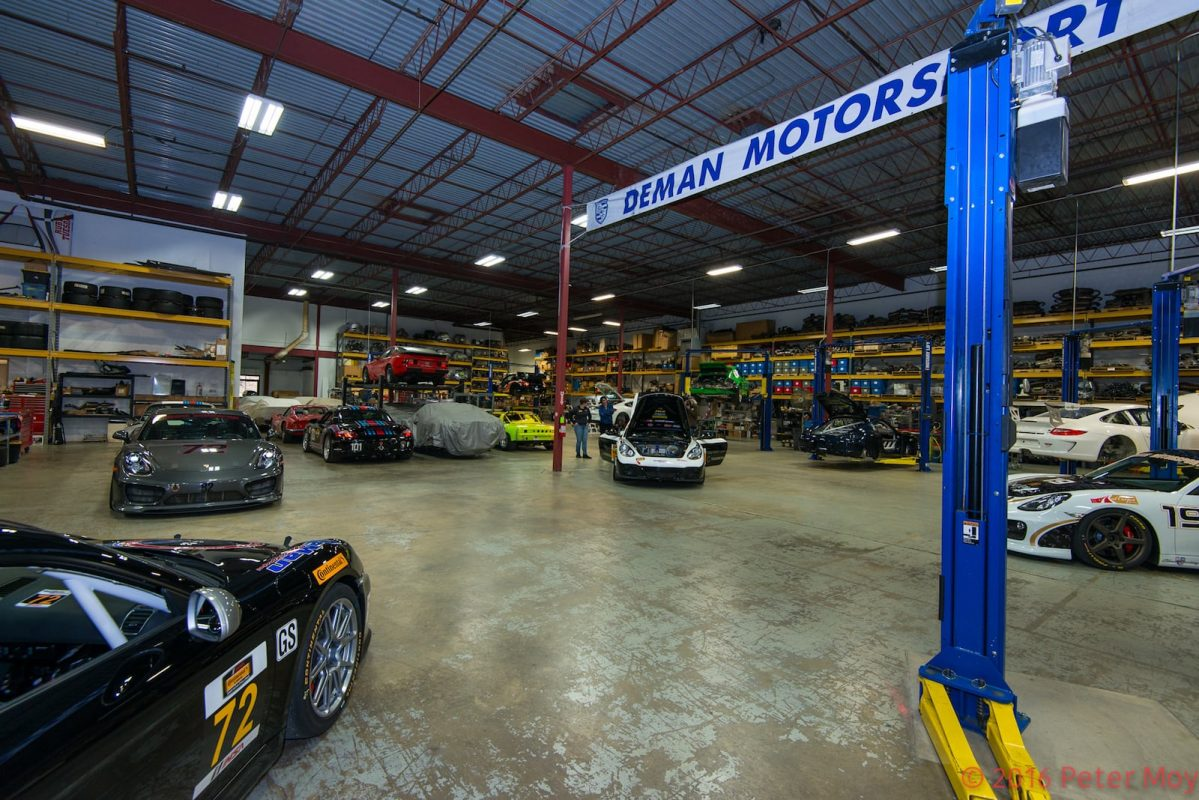 DeMan Motorsport inside shop