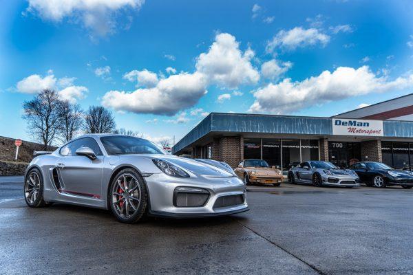 4.5L Porsche GT4 For Sale Silver.Red-15