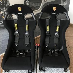 Rare Porsche 996 GT3RS Recaro Perlon Factory Euro bucket seats-7