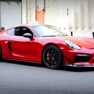 Porsche GT4 For Sale Red-1